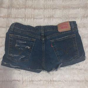 Levi Jean shorts size 7